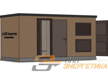 3D вид заказного бетонного блок контейнера