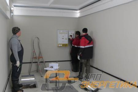 Монтаж оборудования в бетонном контейнере